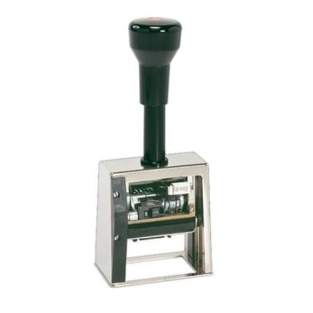 Fechador numerador con placa 50 x 30 mm.
