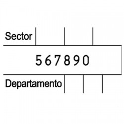 Numerador con placa 45 x 25 mm.