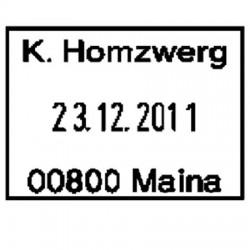 Fechador con placa 35 x 25 mm.